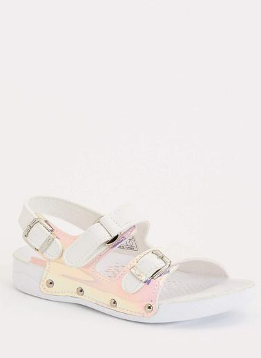 DeFacto Tokalı Sandalet Beyaz